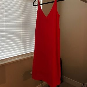 Topshop coral dress. High low. like new; worn once